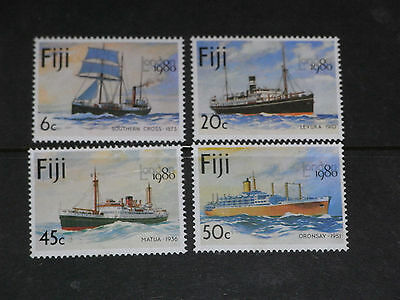 Fiji 1980 Sailing Ships,steamers Set Of 4 Very Fine M/n/h