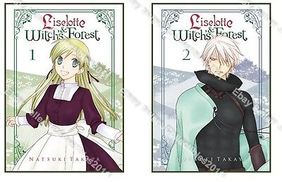 Vol. 1-5 Liselotte and Witch/'s Forest English Manga Graphic Novels New