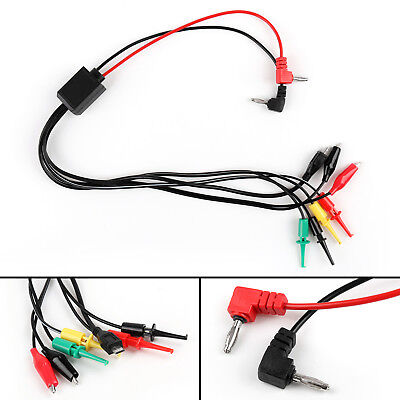 7 in 1 Multimeter Test/Repair Cable 4mm Banana Plug to Clip Hook USB/Android