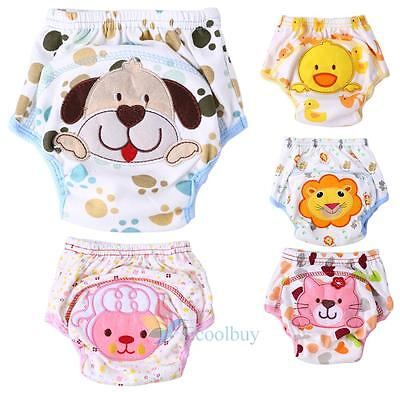 Cute Infant Toddler Kid Baby Cloth Diaper Cover Toilet Training Pants Nappy A
