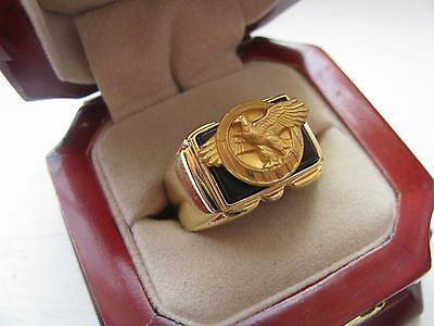 """NEW! Mens Military """"Ruptured Duck"""" Crest Ring *"""