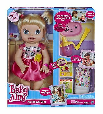 NEW - Baby Alive My Baby All Gone Doll (Blonde) Discontinued by manufacturer