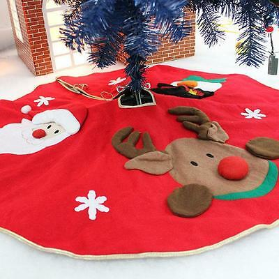 Large Santa Claus Father Christmas Tree Skirt Base Floor Stand Cover 106Cm Hot !