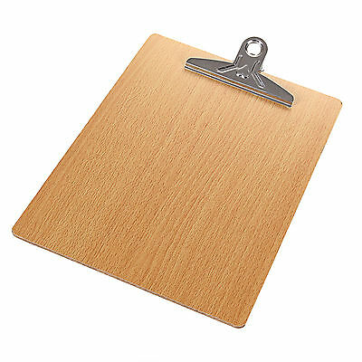 Hot 1PCS Business Office Wooden A4 File Clip Writing Board Document Clipboard