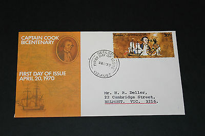 AUST RARE 1970 COOK 30c SINGLE ON OFFICIAL SHORT AP FIRST DAY COVER EX COND
