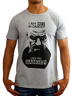 New Mens T Shirt Breaking Bad Danger Fashion Casual Muscle Gym Crew Basic Grey