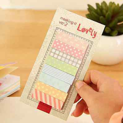 Kawaii 160 Pages Sticker Bookmark Point Marker Memo Planner Sticky Notes