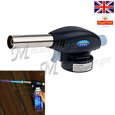 Butane Gas Blow Torch Flamethrower Burner Auto Ignition Camping Welding BBQ New