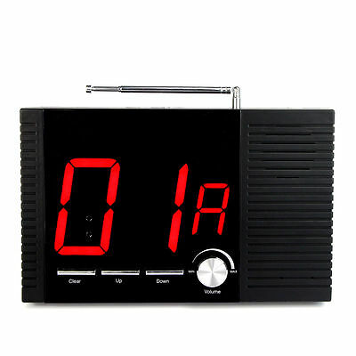 New RF Wireless Paging Queuing System Voice Broadcast Receiver Host 433MHz Hot!!
