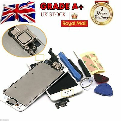 iPhone 5S White  LCD Digitizer Assembly Screen Replacement+Camera+Home Button UK