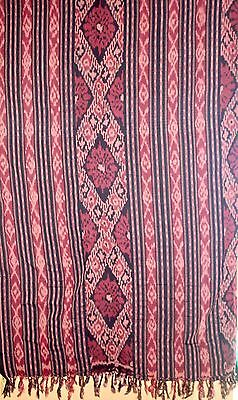 Indonesian Ikat Cotton Throw Blanket XL