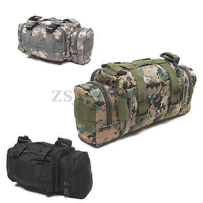 Outdoor Military Tactical Shoulder Waist Pack Molle Camping Hiking Pouch Bag