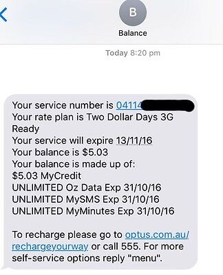 Unlimited Optus $2 A Day Sim Card