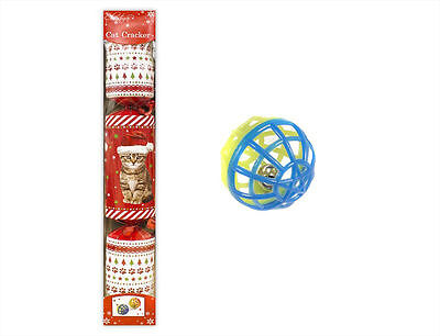 Cat Christmas Cracker with Treat 35cm - Cat Toy Included