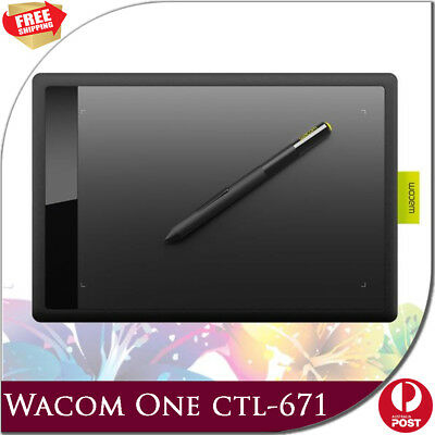 New Wacom One CTL-671 for PC Windows MAC Bamboo Pen Graphic Drawing Tablets