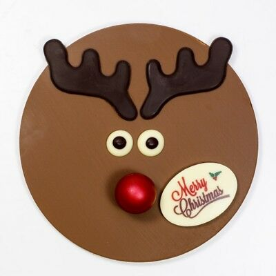 New Red Nose Reindeer chocogram gifts him her christmas