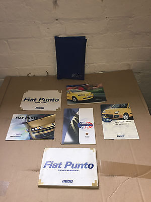 Fiat Punto Sporting Genuine Owners Manual Handbooks And Wallet 2002