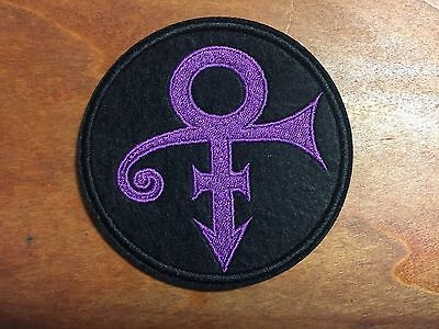 PRINCE THE ARTIST LOVE SYMBOL PURPLE Logo Patch - Embroidered Iron On Patch 3 ""