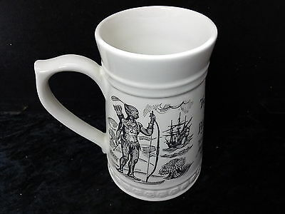Lord Nelson Pottery China Commemorative Tankard - 1620-1970 Mayflower/Pilgrim