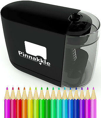 Battery Pencil Sharpener Operated Office School Home Supplies Black Desk Powered