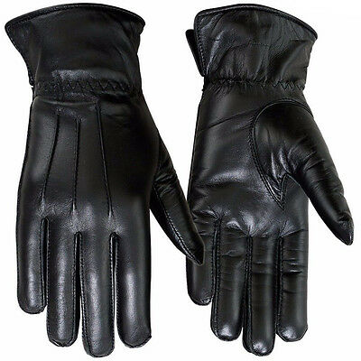 Winter Dress Gloves Womens Thermal Linning Real Leather Glove Black, 8, XL