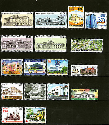 SRI LANKA - Thematic Stamp Collection - Buildings and Constructions, MNH