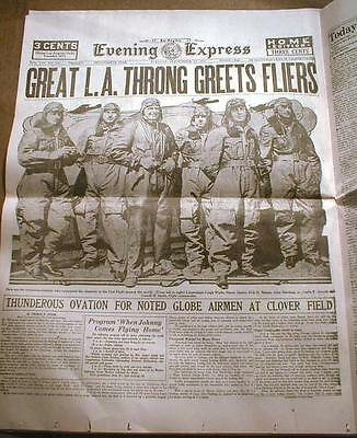 31 HIGHLIGHTS of AVIATION newspapers 1901-1950 WRIGHT BROS - Lindbergh - EARHART