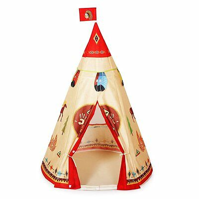 Kid Play Tent Indian Story Tipi for Childrens Family Sleepover Parties Playhouse