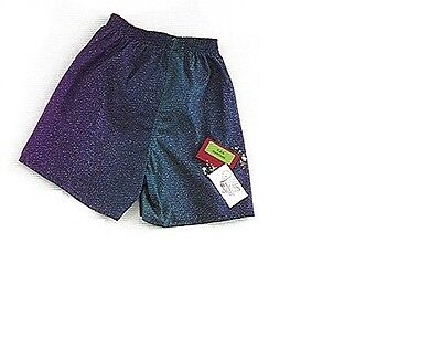 NEW NWT RocketWear Men's Purple/Turquoise Galaxy Cotton Boxers, Small