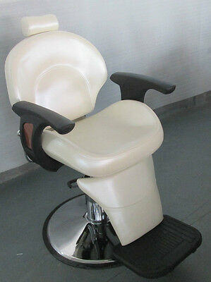 New HEAVY DUTY WHITE BARBER CHAIR BX-2696
