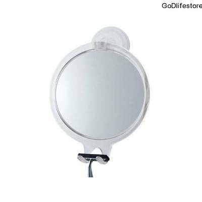 Bathroom Shaving Mirror Fog Free Wall Mounted Shower Hang Strong Suction Grip