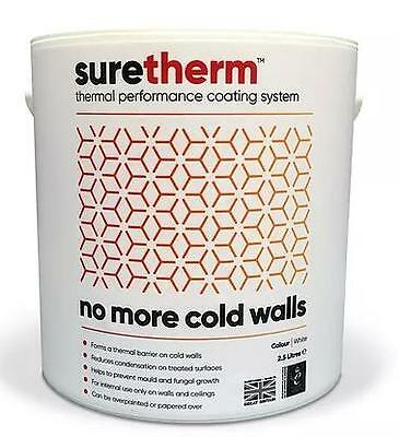 NVIROl SURETHERM ANTI CONDENSATION GLASS BUBBLE THERMAL  PAINT 2.5LTRS