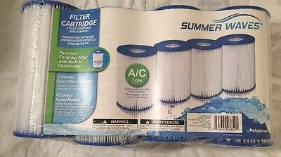 Summer Escapes Summer Waves Type A or C Pool Filter Cartridge 4 Pack BRAND NEW