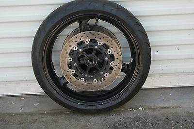 Yamaha YZFR6 R6 R-6 Front wheel rim with good tire and disks