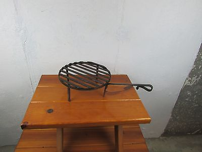 Fireplace, Campfire Grill Wrought Iron Vintage Antique Makers Mark Great Look