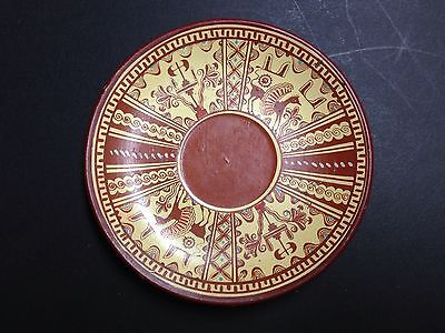 Saucer #304 Larnax by D. Vassilopoulos Handmade in Greece BC, Heraklium Museum