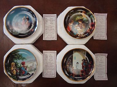 Precious Moments Bible Story Plate Collection Hamilton Set of 4