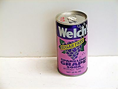 Welch's Sugar Free Grape Soda; San Francisco, CA; steel soda pop can