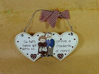 Targa  soggetto NONNI idea regalo con frase- cm.20x15 - arredo shabby/country -