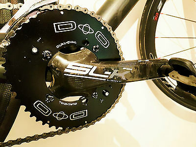 Chainring Set Dual-Oval 4 arms FSA slk Light BB386 ABS Rotor Osymetric Doval