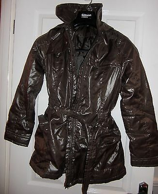 ZARA Girls BROWN  Padded, Puffa, HOODED Coat, Age 13-14, Great Condition