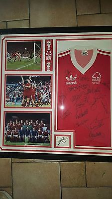 Fully signed orginal nottingham forest shirt