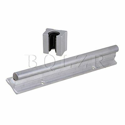 2 Pieces Silver 200mmCNC Linear Motion Bearing Support Rail & Open Bearing Slide