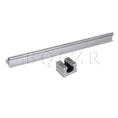 2pcs Open Linear Bearing Slide and 10mm Shaft 40cm Linear Bearing Rail Block