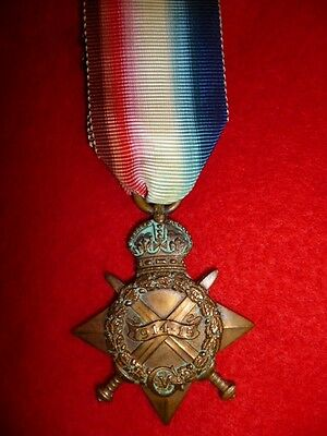 WW1 British 1914/15 Star Medal to Clothier, Royal Welsh Fusiliers