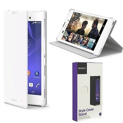 Genuine Sony FLIP CASE EXPERIA T3 original smart phone book cover wallet pouch
