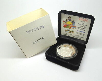 DISNEY Snow White WITCH 50th Anniversary RM .999 Fine Proof 1oz Silver Medal