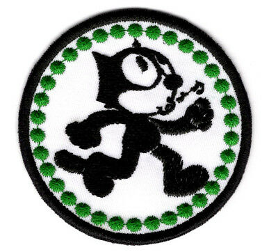 Felix the cat whistling iron on  Patch.FREE NORTH AMERICA SHIPPING