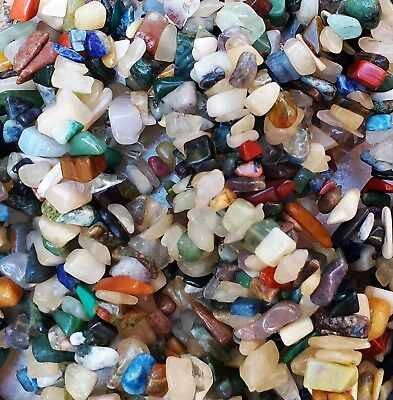 60g Mixed Gemstone Chips Beads, Mixed Stone AU SELLER FREE POSTAGE