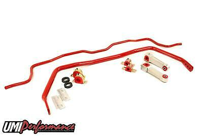 UMI Performance 05-14 Ford Mustang Coupe Front & Rear Sway Bar Kit - Red